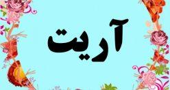 معنی اسم آریت – معنی آریت – نام پسرانه ترکی