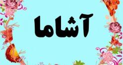 معنی اسم آشاما – معنی آشاما – نام پسرانه ترکی