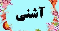 معنی اسم آشنی – معنی آشنی  – نام پسرانه ترکی