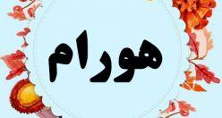 معنی اسم هورام – نام هورام – اسمهای کردی پسرانه