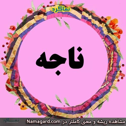 معنی اسم ناجه