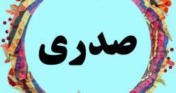 اسم صدری – معنی نام صدری – نام های پسرانه مازندرانی