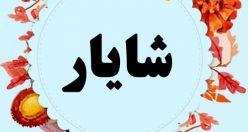 معنی اسم شایار – نام شایار – اسمهای کردی پسرانه