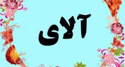 معنی اسم آلای – معنی آلای – نام پسرانه ترکی