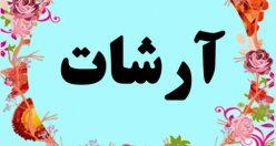 معنی اسم آرشات – معنی آرشات – نام پسرانه ترکی