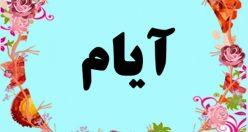 معنی اسم آیام – معنی آیام – نام پسرانه ترکی
