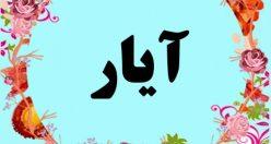معنی اسم آیار – معنی آیار – نام پسرانه ترکی