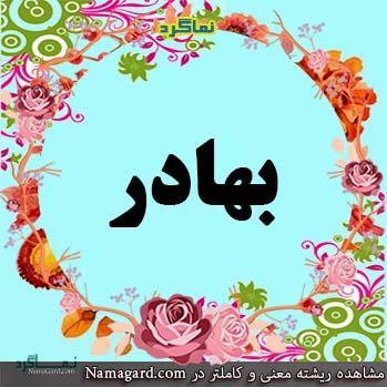 معنی اسم بهادر