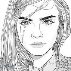 عکس پروفایل دخترونه نقاشی متفاوت