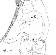 عکس پروفایل دخترونه نقاشی زیبا