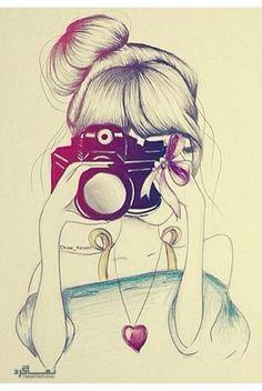 عکس پروفایل دخترونه نقاشی جذاب