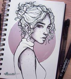 عکس پروفایل دخترونه نقاشی خاص