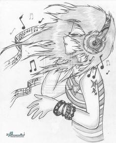 عکس پروفایل دخترونه نقاشی