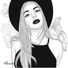 عکس پروفایل دخترونه نقاشی شیک و زیبا