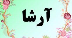 معنی اسم ارشا – معنی آرشا – نام پسرانه فارسی