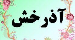 معنی اسم اذرخش – معنی آذرخش – نام پسرانه فارسی