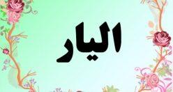 معنی اسم الیار – معنی الیار – نام پسرانه فارسی
