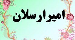 معنی اسم امیر ارسلان – معنی امیر ارسلان – نام پسرانه فارسی