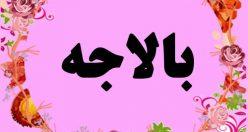 معنی اسم بالاجه – نام بالاجه – زیباترین اسم های دخترانه ترکی