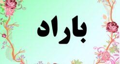 معنی اسم باراد – معنی باراد – نام پسرانه فارسی