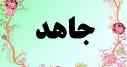 معنی اسم جاهد – معنی جاهد – نام پسرانه فارسی