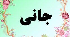 معنی اسم جانی – معنی جانی – نام پسرانه فارسی