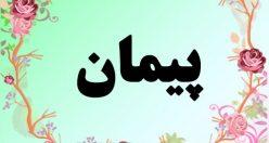 معنی اسم پیمان – معنی پیمان – نام پسرانه فارسی