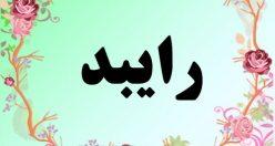 معنی اسم رایبد – معنی رایبد – نام پسرانه ریبا  فارسی