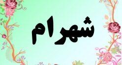 معنی اسم شهرام – معنی شهرام – نام زیبای پسرانه فارسی