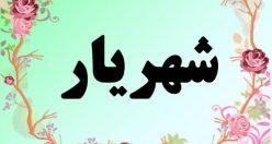 معنی اسم شهریار – معنی شهریار – نام پسرانه فارسی