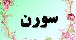 معنی اسم سورن – معنی سورن – نام پسرانه فارسی