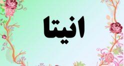 معنی اسم انیتا – معنی آنیتا – نام دخترانه فارسی