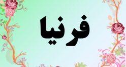معنی اسم فرنیا – معنی فرنیا – نام زیبای دخترانه فارسی