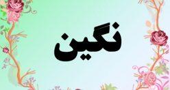 معنی اسم نگین – معنی نگین – نام زیبای دخترانه فارسی