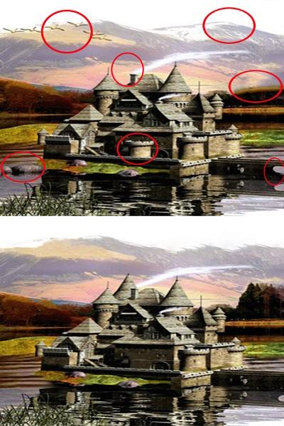 2 تست هوش اختلاف تصویری آسان ( 12) - جواب تست 1