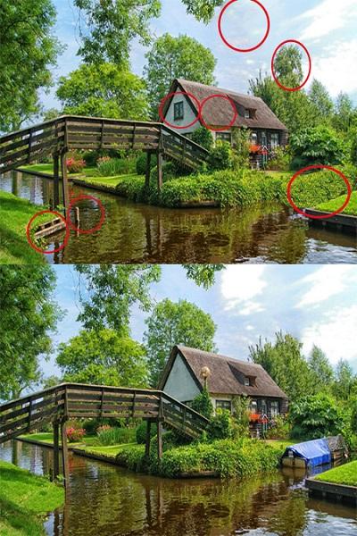 2 تست هوش تفاوت تصویری جذاب! (شماره 4)، جواب عکس شماره 2