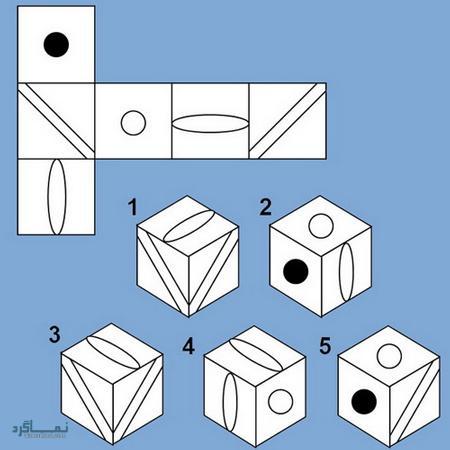 تست هوش تصویری مکعب و حدس گزینه صحیح جدید (01) +جواب