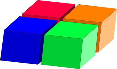 معمای بازی با ریاضی و مکعب های رنگی + جواب