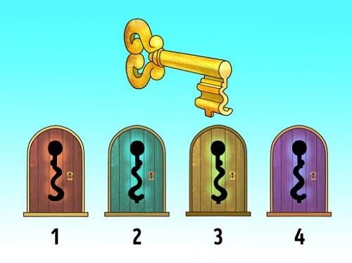 معما و تست هوش، کدام کلید در را باز میکند؟