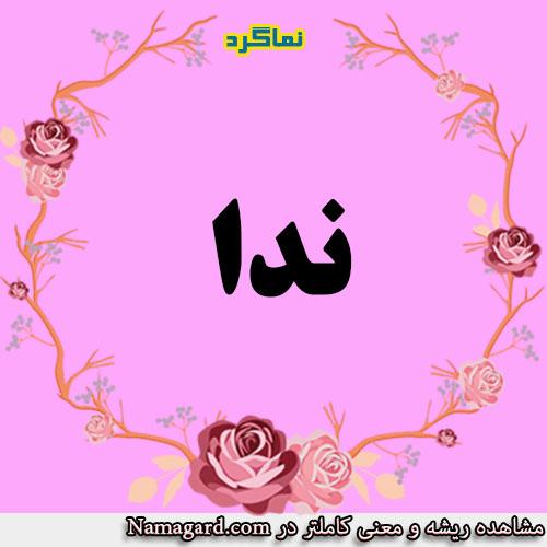 معنی اسم ندا – معنی ندا – نام زیبای دخترانه عربی