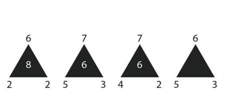 معمای سخت مثلث سیاه برای متفکرها!!+ جواب