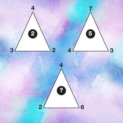 معمای تصویری مثلث و اعداد آن برای متفکر ها !! + جواب