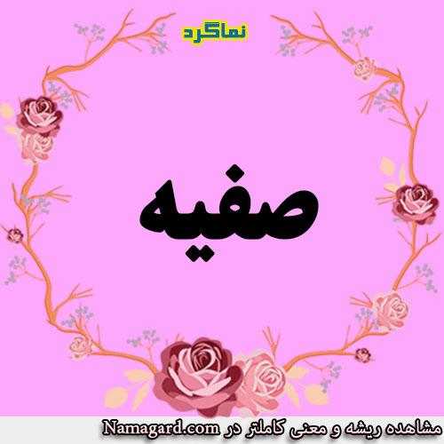 معنی اسم صفیه – معنی صفیه – نام زیبای دخترانه عربی