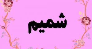 معنی اسم شمیم – معنی شمیم – نام زیبای دخترانه عربی