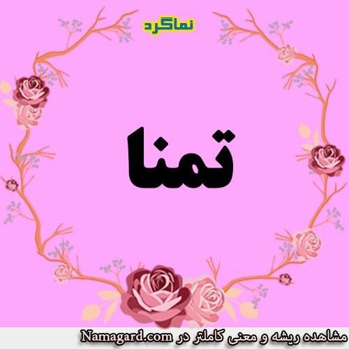 معنی اسم تمنا – معنی تمنا – نام زیبای دخترانه عربی