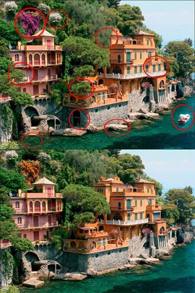 تفاوت بین تصاویر برای تیز بین ها (25) - جواب تست 1