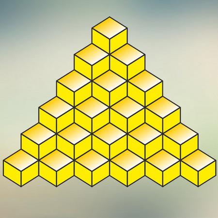 تست هوش تصویری مکعب های زرد برای باهوشها!!! + با جواب