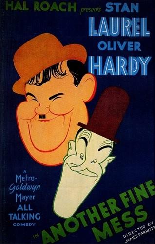 دوبله فارسی فیلم یک افتضاح حسابی Another Fine Mess 1930