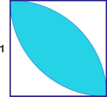 تست هوش ریاضی پیدا کردن مساحت قسمت رنگی + جواب