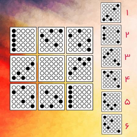 تست هوش تصویری گزینه صحیح نقاط سفید و سیاه + جواب